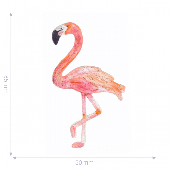 Flamingo Flicken - Pinker Aufnäher - Lachsfarbene Bügelapplikation