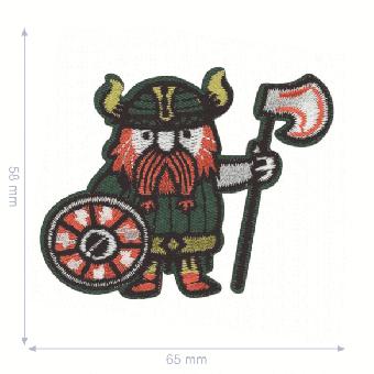 Wikinger mit Axt Flicken - Vikings Aufnäher / Bügelapplikation