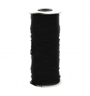 250m schwarzes 5mm Gummi / Gummitwist / Gummiband / Elastic - Elastisch für Behelfsmasken & Babykleidung - GROßSPULE / KONE!