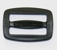 Gurtschnalle / Leiterschnalle 30mm / 3cm - schwarz - Kunststoff