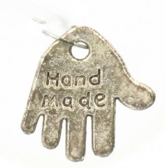 "Handmade Annäher - Shabby Chic Metall-Charms - ""Handgemacht"" Hand-Anhänger"