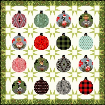 GRATIS DOWNLOAD! Hanging with our Homies Quilt Pattern - Anleitung Patchworkdecke - Tula Pink's Holiday Homies Weihnachtsstoffe Schnittmuster