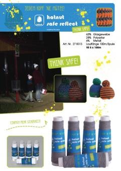 Hatnut Safe Reflect - 100m buntes Refleksgarn - Reflektierender Beilauffaden / Refleksfaden