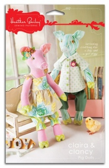 Claira & Clancy Pig Dolls - Heather Bailey - Schweinchen Kuscheltiere / Softies