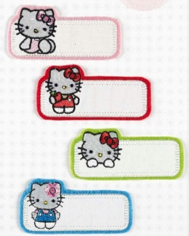 4er Set Hello Kitty  Bügelapplikationen - Original Sanrio