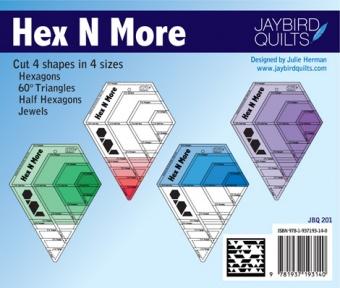 Hex N More Sechseck-Lineal - Hex'N'More Hexagon Ruler - Jaybird Quilts  - VORBESTELLUNG ca. Mitte August