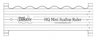 HQ Mini Scallop Ruler - Handi Quilter Longarm Wellen Quiltlineal / Bogenkantenlineal