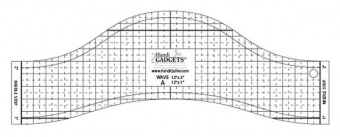 HQ Wave Ruler A 12in - Handi Quilter Longarm Wellenlineal