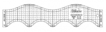 HQ Wave Ruler D 6in & 3in - Handi Quilter Longarm Wellenlineal
