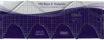 HQ Wave Ruler E 6in & 3in - Handi Quilter Longarm Wellenlineal