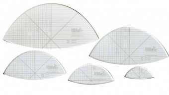 HQ Arc Ruler A 12in, 10in, 8in, 6in & 4in Templates - Handi Quilter Longarm Lineale / Blattschablone