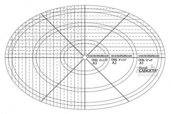 HQ Oval Ruler A 12in, 8in & 4in Templates - Handi Quilter Longarm Lineale / Ovalschablone