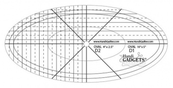 HQ Oval Ruler D 10in & 4in Templates - Handi Quilter Longarm Lineale / Ovalschablone