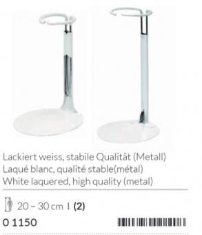 Höhenverstellbarer Puppenständer - Weißes, stabilies Metall