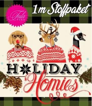 1m Stoffpaket- Tula Pink Designerstoff - Holiday Homies Flannels Weihnachtsstoffe - VORBESTELLUNG JUNI 2021!