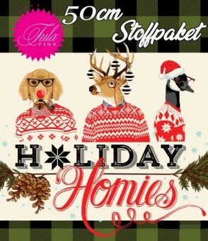 1/2m Stoffpaket- 19x 50cm Tula Pink Designerstoff - Holiday Homies Flannels Weihnachtsstoffe - VORBESTELLUNG JUNI 2021!