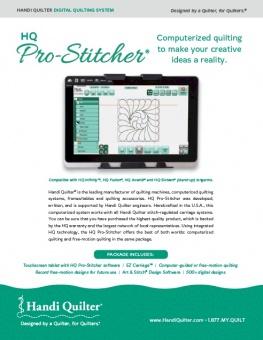 Handi Quilter HQ Pro Stitcher - Informationsbroschüre & Katalog
