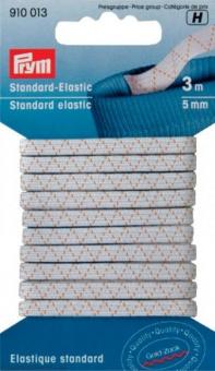 Weißes Standard-Elastic 5mm - Gummizug / Gummitwist / Gummiband / Gummizug - 5m Karte - elastisch