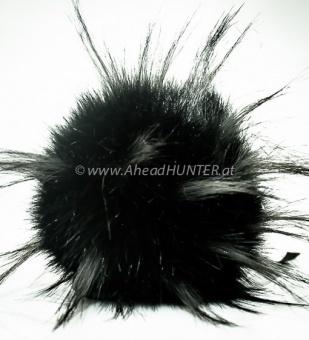 Vegane Kunstfellbommel - Aheadhunter PomPoms - Mützenbommel aus Österreich Schwarz Luxury Raccoon