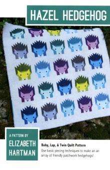 Süßer Igel Quilt - Hazel Hedgehog  Pattern by Elizabeth Hartman - Patchworkdecke Schnittmuster