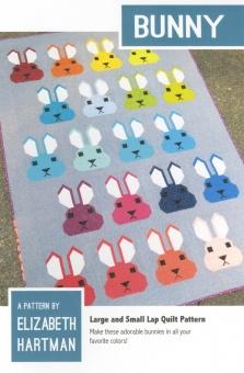 Süßer Hasen Quilt - Bunny  Pattern by Elizabeth Hartman - Patchworkdecke Schnittmuster