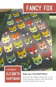 Süßer Fuchs Quilt - Fancy Fox Pattern by Elizabeth Hartman - Patchworkdecke Schnittmuster