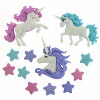 Magical Unicorns - Einhorn Knöpfe Knopfset