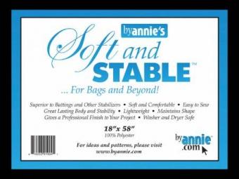 Schwarz Soft & Stable Stabilisator - Taschenvlies by Annie's - 18 x 58 Inches SB-Packung