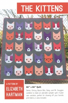 The Kittens - ANLEITUNG Katzen Patchworkdecke - Elizabeth Hartman