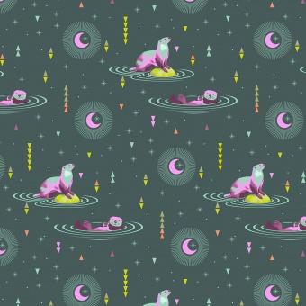 Lunar Otter & Chill - Spirit Animal by Tula Pink