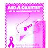 "6"" Add-A-Quarter Ruler Pinkes Nahtzugabenlineal"