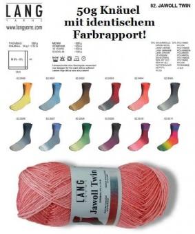 Jawoll Twin - VIELE FARBEN! - Sockenstrickgarn / Sockenwolle mit identischem Farbverlauf - LANG YARNS