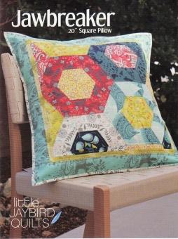 Jawbreaker Dekokissen - Hex'n'More Kopfkissen Schnittmuster Booklet - Jaybird Quilts Pillow Pattern