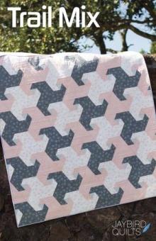 Trail Mix Patchworkdecke - Super Sidekick Ruler Schnittmuster Booklet - Jaybird Quilts