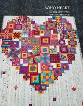 "Boho Heart Sampler Pattern Anleitung - Patchworkbuch von ""Gypsy Wife""'s Jen Kingwell"