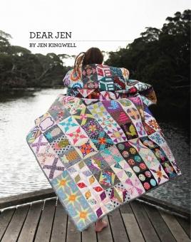 """Dear Jen Sampler Pattern Anleitung - Patchworkbuch von """"Gypsy Wife""""'s Jen Kingwell"""
