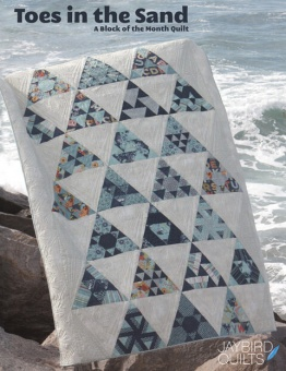 Toes in the Sand BOM Patchworkdecke - Block of the Month Design Hex'N'More Schnittmuster Booklet - Jaybird Quilts