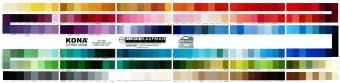 Farbkarte - Kona Cotton Solids Unistoffe - inklusive 25 Farbneuheiten 2019!