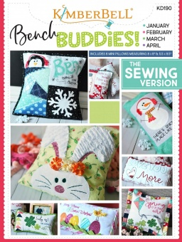 Bench Buddies  Schnittmuster & Nähanleitung - Kimberbell Bench Buddy Series January - April - The Sewing Version