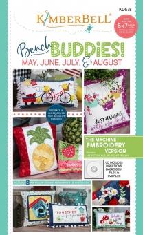 Bench Buddies Stickdateien & Schnittmuster - Kimberbell Bench Buddy Series May - August Machine Embroidery - mit SVG & Stickdateien