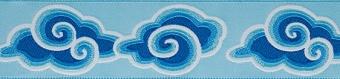 Blaue Wolken - Original Kaffe Fassett Webband Blue Clouds