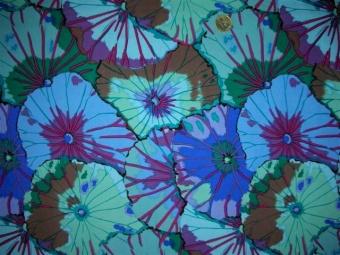 Lotus Leaves Blue Designerstoff / Patchworkstoff