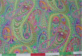 Green Paisley Jungle - Original Kaffe Fassett Designerstoff