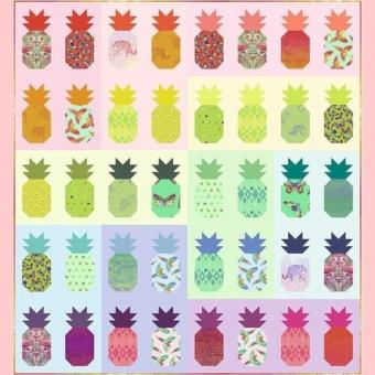 Pining For You Kit - Ananasquilt Materialpackung  - Daydreamer Tula Pink Designerstoffe - Tropische FreeSpirit Patchworkstoffe - VORBESTELLUNG! ca. November 2021