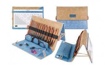 KnitPro Ginger Deluxe Set - Auswechselbare Nadelspitzen / Austauschbare Rundstricknadeln in Treibholz-Optik