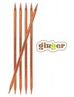 """KnitPro Ginger Stricknadeln - Nadelspiele """"DPNs"""" 15cm / 20cm Länge in Treibholz-Optik"""