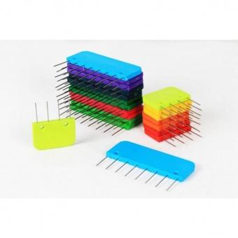 REGENBOGEN Knit Pro Kammnadeln Set - RAINBOW Spannnadeln für Strick- & Häkelprojekte