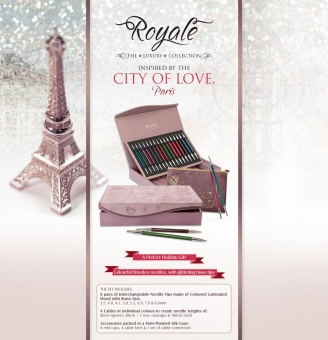 Limitierte Edition Paris City of Love - Knit Pro Royale the Luxury Collection - Stricknadelset