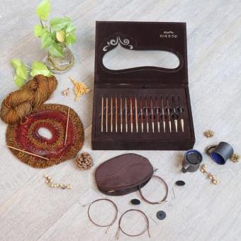 Strick & Schlürf DELUXE Set - KnitPro Knit & Sip Limited Edition - Auswechselbare Nadelspitzen / Austauschbare Rundstricknadeln