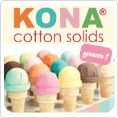 1 Pfund Regenbogen-Überraschung - Kona Cotton Solids Unistoffe im 500g Scrap Bag Stoffpaket